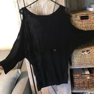 NWT Express Mesh Cold Shoulder Dolman Style Shirt